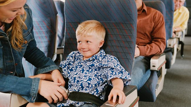 child on a plane