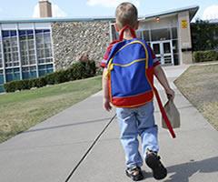 A child entering school