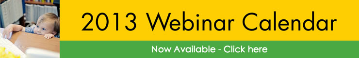 Click here to view the 2013 Webinar Schedule from The Johnson Center